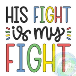 Customisable Autism 'His Fight / Her Fight / Their Fight...is My Fight Tote Bag