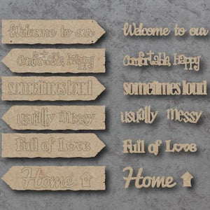 Customisable Wooden Home Directions Hanging Sign