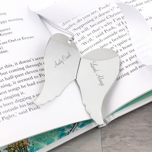 Personalised In Memory Angel Wings Keepsake