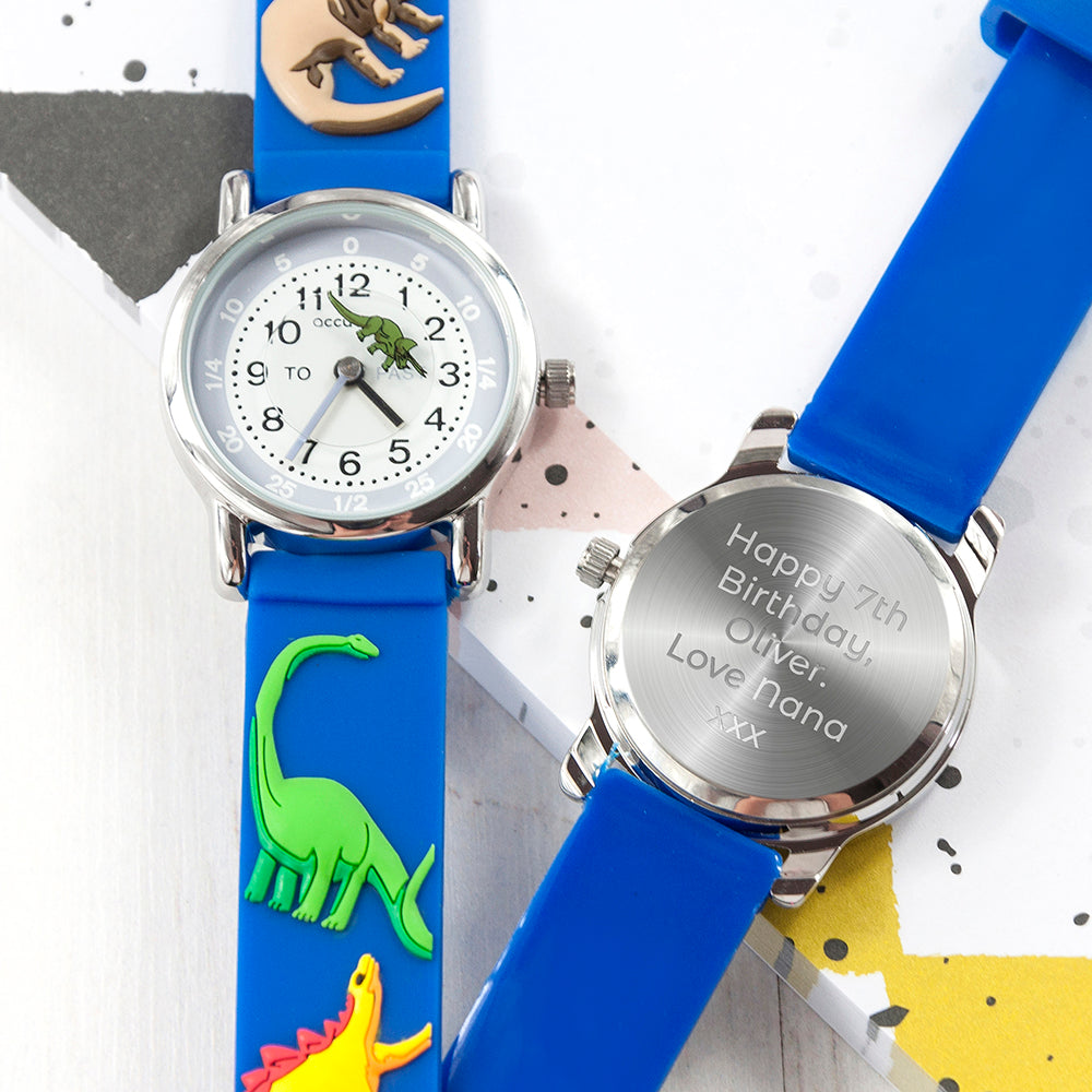 Childrens Personalised Dinosaur Watch