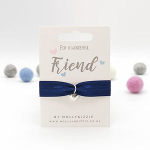 Friend Stretch Bracelet with Heart Charm for Children