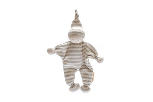 Organic Cotton Baby Comforter in Grey Stripes