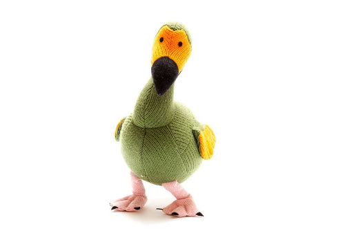 Knitted Green Dodo Toy