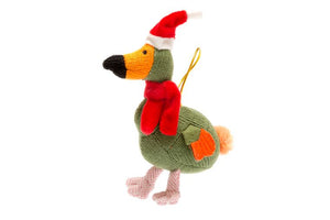 Knitted Green Dodo Christmas Tree Decoration