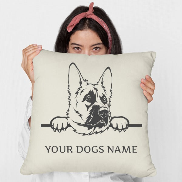 Personalised German Shepherd / Alsatian Cushion (Two Designs Available)