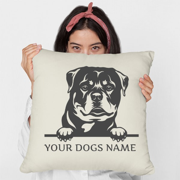 Personalised Rottweiler Cushion - Two Designs Available