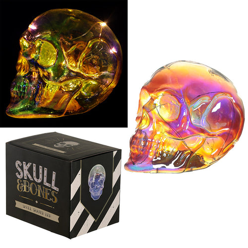 Large Iridescent Rainbow LED Skull - An awesome Halloween Decoration