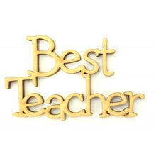 Customisable Flower Theme 'Best Teacher' Circle Sign (Several Versions Available)