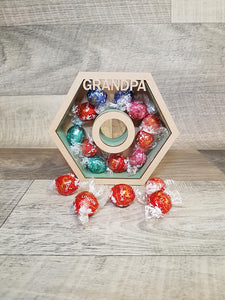 Customisable Wooden Screw Nut (Chocolate) Holder - can be Personalised