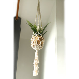 Macrame Pot Holder - Large Pot Holder - Extra Long