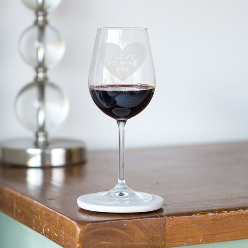 'I Love to Wine' Engraved Wine Glass - perfect for Mother's Day