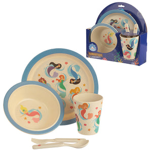 Bambootique Eco Friendly Plastic Mermaid Child's Dinner Set
