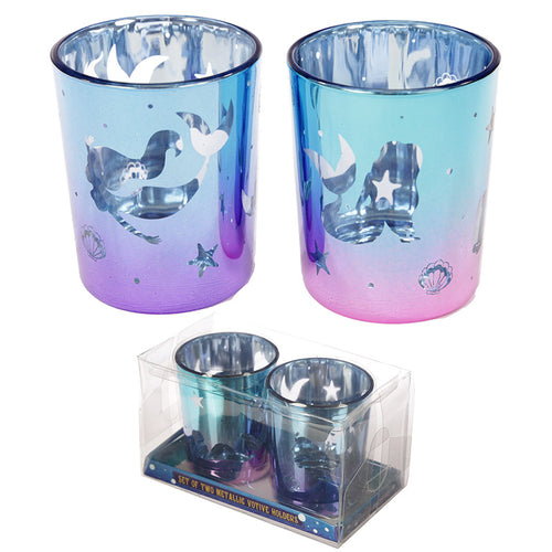 Enchanted Seas Mermaid Tealight Holders (Set of 2)