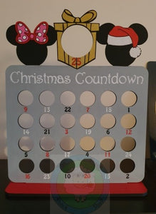 Santa & Mrs Mouse Ferrero Rocher/Lindt Chocolate and Chocolate Orange Christmas Advent Calendar (Chocs not included)