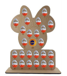 Lady Mouse Kinder Egg and Chocolate Orange Christmas Advent Calendar (Chocs not included)