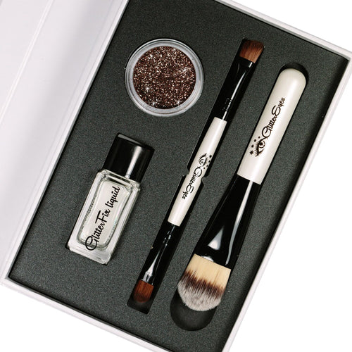 Festival Ready Glitter Eyes: Mocha Shine Kit