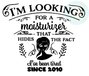 Customisable 'I'm Looking for a Moisturizer' Cotton Tote Bag