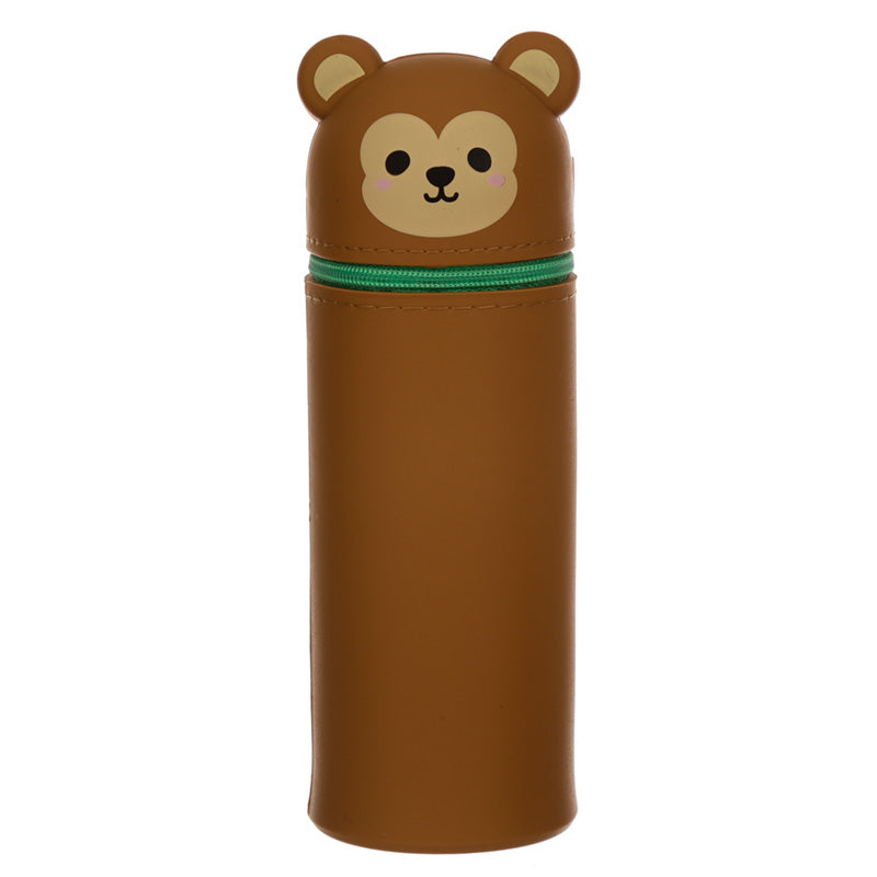 Monkey Silicone Upright Pencil Case