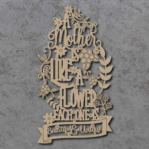 Customiseable 'A Mother is like a Flower...' Wooden Sign