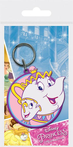 Beauty and the Beast: Mrs Potts and Chip Keyring - Free Shipping