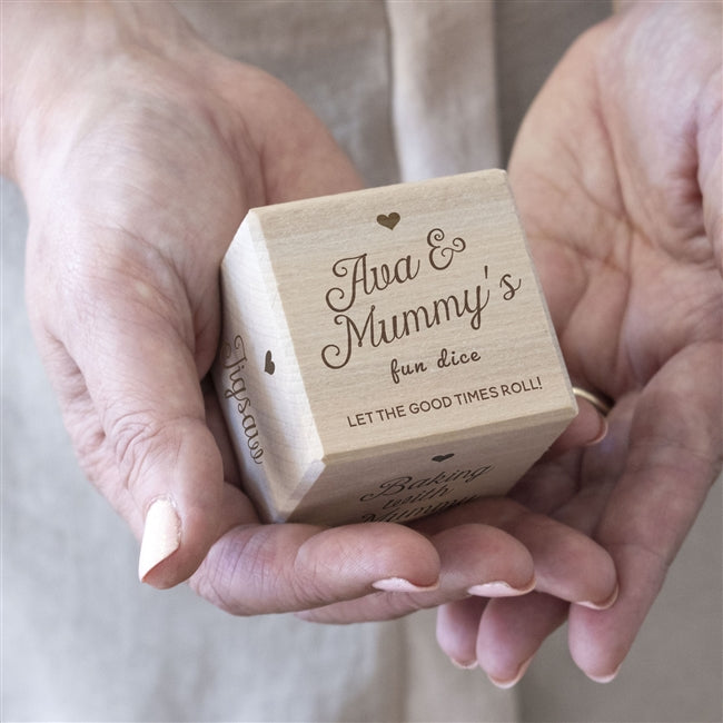 Personalised Wooden 'Fun with Mum' Dice