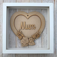 Customisable Wooden Floral Heart Plaque - Ideal gift for Mother's Day