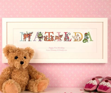 Personalised Phonetic Illustrated Name Frame - Perfect for Children!