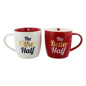 'The Other Half' and 'The Better Half' Twin Mug Set