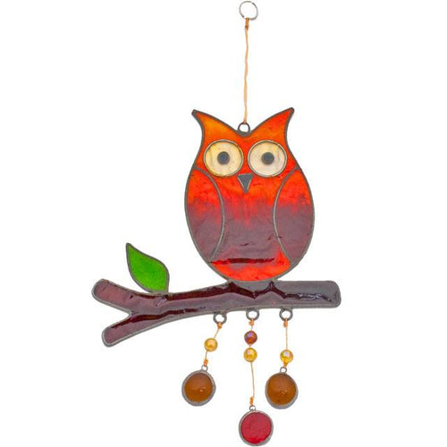 Owl on a Branch Suncatcher