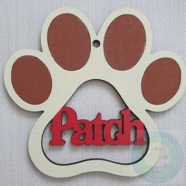 Personalised and Customisable Paw Print Christmas Hanging Decoration