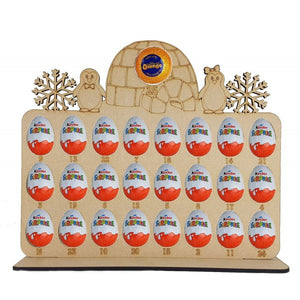 Penguin Family Kinder Egg and Chocolate Orange Christmas Advent Calendar (Chocs not inc.)