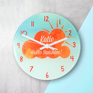 'Hello Sunshine!' Personalised Wall Clock