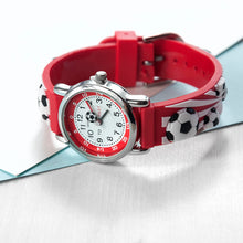 Childrens Personalised Red Football Watch