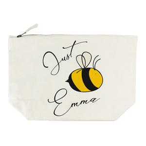 Personalised 'Just Bee 'You'' Cream Makeup/Wash Bag
