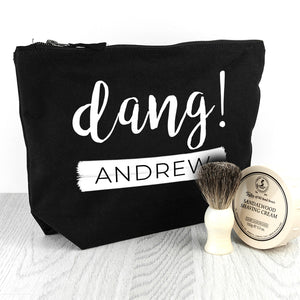 Personalised Dang Black or Navy Wash Bag
