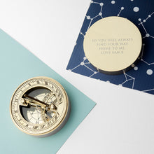 Personalised Adventurer's Brass Sundial and Compass