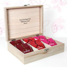 'Love Chai' Tea Box With Initial and Personalised Message