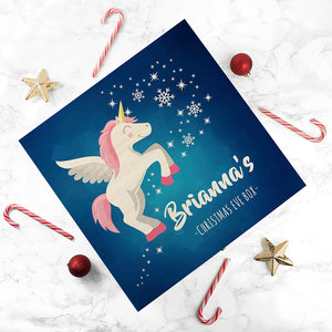 Personalised Unicorn Christmas Eve Box - Small or Large