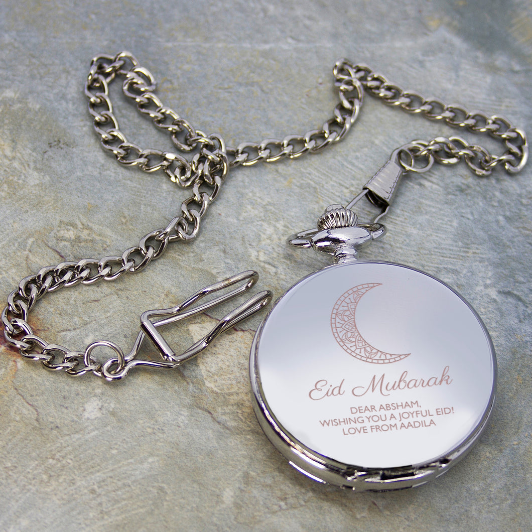 Personalised Eid Mubarak Dual Pocket Watch