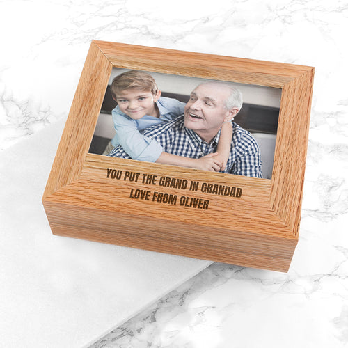 Personalised Wooden Keepsake Photo Box - Perfect for Any Occasion!