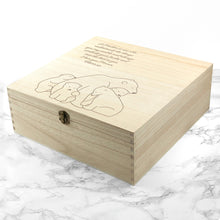 Personalised Mama Bear and Cub(s) Wooden Keepsake Box