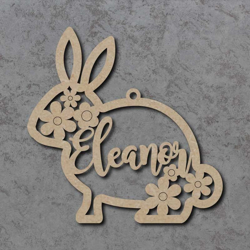 Personalised and Customiseable Easter Bunny Name Decoration