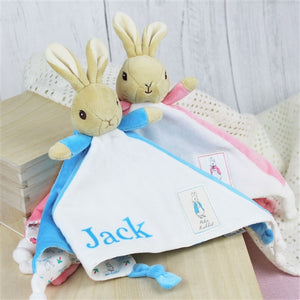 Personalised Beatrix Potter - Peter Rabbit or Flopsy Bunny Snuggle Blanket