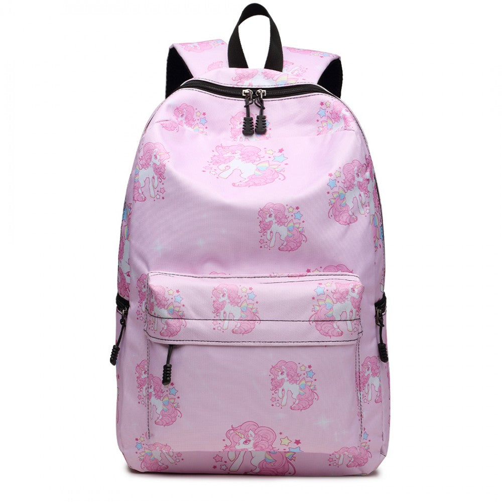 Unicorn and Stars Backpack - Pink