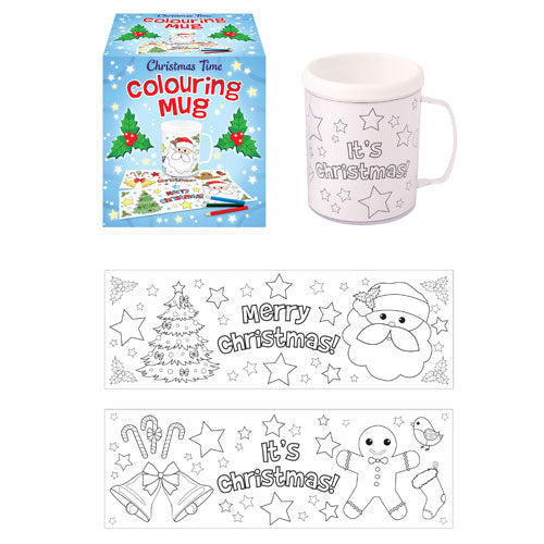 Childrens Colour Your Own Christmas (Plastic) Mug