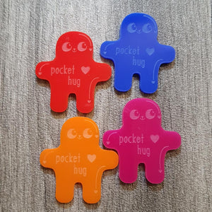 Acrylic Pocket Hug(s) 4cm (Free Shipping - UK Only)