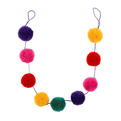 Christmas Colourful Pom Pom Garland
