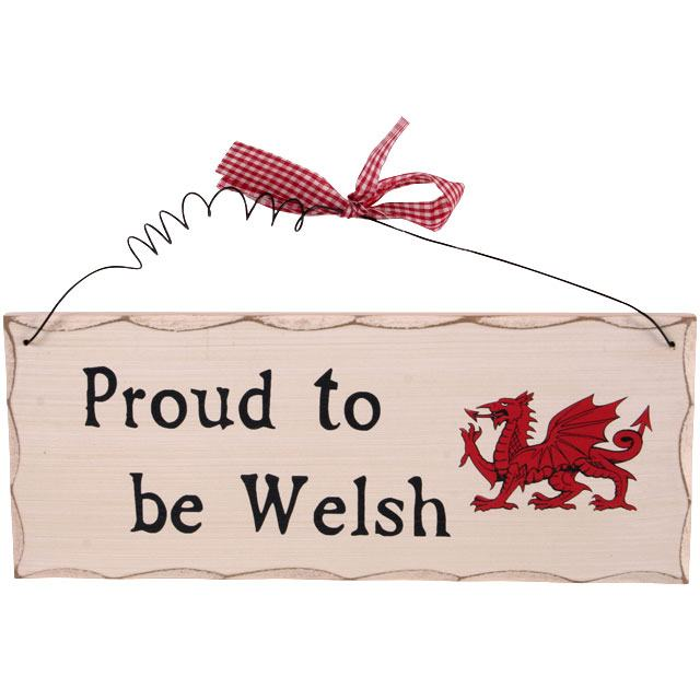 'Proud to be Welsh' Hanging Sign