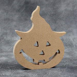 Customisable Wooden Free standing Pumpkin Head - perfect for Halloween