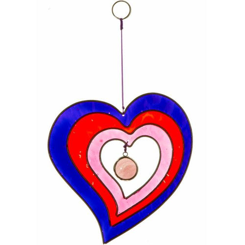 Hanging Heart Suncatcher - various colours available